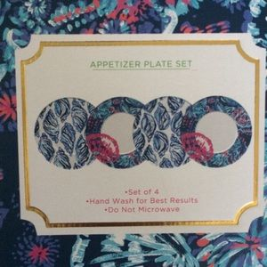 Lilly Pulitzer 4-pc Appetizer plate set